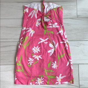 Lilly Pulitzer strapless tie back sundress size 6